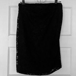 H&M black lace maternity pencil skirt
